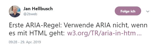 Screenshot Twitter-Beitrag